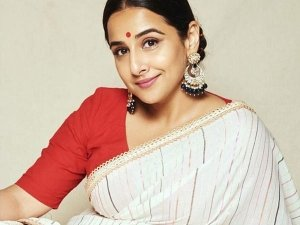 Vidya Balan S Simple Look In Saree In Natkhat Poster