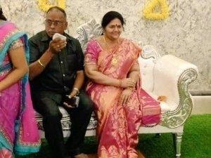 Karnataka Based Buisnessman Celebrates House Warming Ceremony With Late Wifes Silicon Wax Statue
