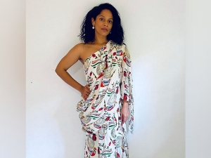 Masaba Gupta S Draped Top With Skirt Attire With The Price