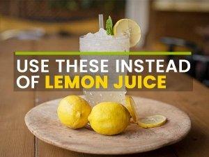 Substitutes For Lemon Juice