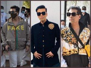 Karan Johar S Fashionable Outfits From Varun Dhawan S Wedding Festivities