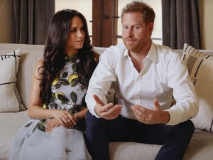 Meghan Markle And Prince Harry At A Spotify Event
