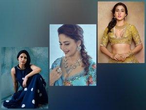Madhuri Dixit Nene Sara Ali Khan And Konkona Sen Sharma S Side Braid Hairstyle
