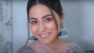 Hina Khan Shares A Dewy Makeup Tutorial Video On Her Youtube Channel