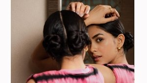 Mrunal Thakur Aces Low Space Buns For Toofan Promotions
