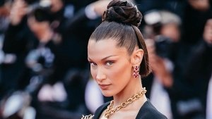 Bella Hadid S Latest Super Stylish Bun Hairstyle From Cannes 2021