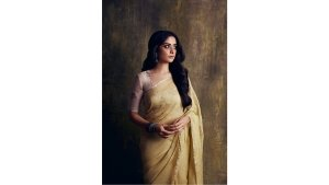 Tanya Maniktala In An Anavila Saree For Chutzpah Promotions