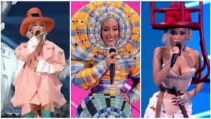 Doja Cat Awesome Worm And Hat Outfits At Vma