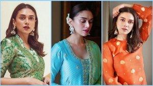 Aditi Rao Hydari S Festive Gharara And Sharara Set For Karwa Chauth