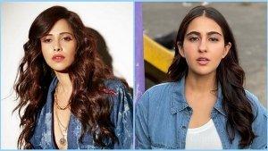 Nushrratt Bharuccha And Sara Ali Khan In Denim Outfits On Instagram