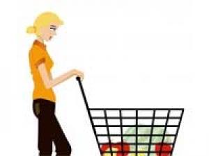 Women Happiness Shopping Trolley