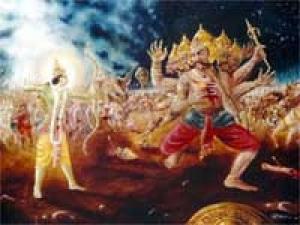 Killing Ravana Modern Way Dasara