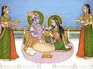 Kishangarh Paintings Radha Krishna Love