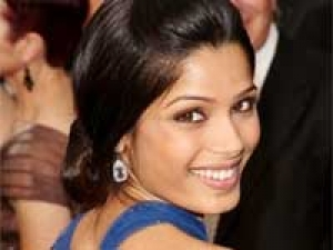Freida Pinto Blue Dress