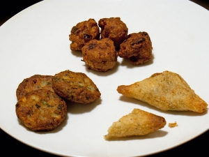 Aloo Pakora Beaten Rice Recipe