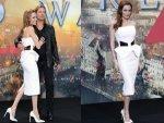 Angelina Jolie White Birthday Dress
