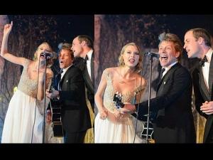 Prince William Taylor Bon Jovi Sing Charity