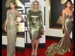 Metallic Gowns At Grammys 2014 Red Carpet