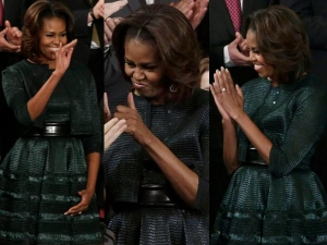 Michelle Obama Evergreen Look State Union