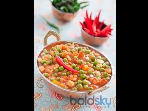 Green Peas Tomato Sabji Recipe