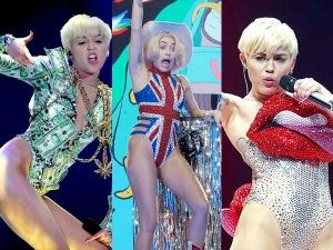 Miley Cyrus Storms London In Crazy Attires At Bangerz Tour Concert