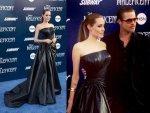 Angelina Jolie In Black Versace Gown