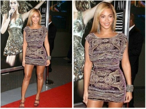 Beyonce In Naeem Khan Short Dress