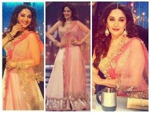 Madhuri Dixit Wears Pastel Lehenga For Finale