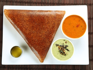 Healthy Brown Rice Dosa Breakfast