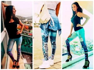 Evelyn Sharma Gets Cheeky With Printed Leggings