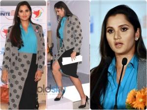 Sania Mirza In Ilk At Un Womens Event