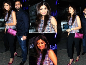 Shilpa Shetty Gets Girly With Pink And Denims