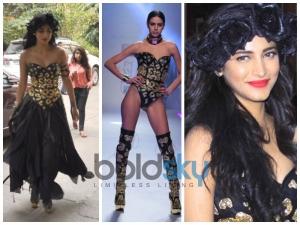 Shruti Haasan Foxy Leather Style On Movie Sets