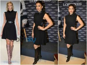 Aishwarya Rai Very Hot Leather Look In Gucci At Longines Press Meet