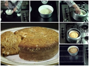 Christmas Special Eggless Cake Without Oven