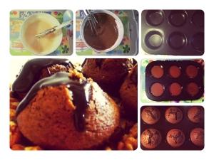 Chocolate Walnut Cupcake Microwave Recipe