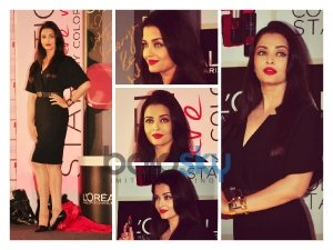 Aishwarya Rai Fiesty Look In Burberry At Loreal Collection Launch