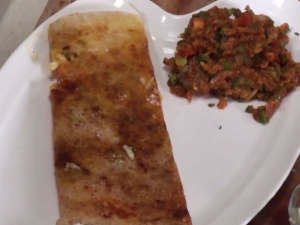 Cheesy Pav Bhaji Dosa For Breakfast