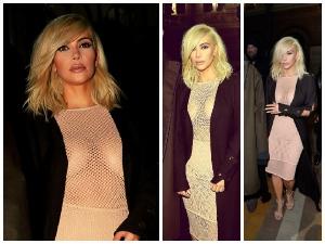 Kim Kardashian Faces Wardrobe Malfunction In Sheer Dress At Paris Fashion Week