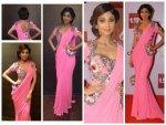 Shilpa Shetty Versus Rakhi Sawant At Television 2015 Awards Red Carpet