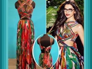 Deepika Padukone Nerdy Look In Swapnil Shinde Dress For Vogue Ad