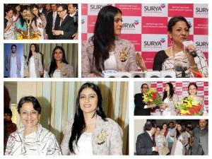 Kajol Looks Enchanting In Eka At Surya Hospital Inauguration
