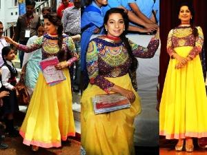 Juhi Chawla Intense Manish Arora Anarkali At International Kids 2015 Festival