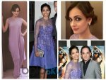 Freida Pinto And Dia Mirza In Lace Dresses At Events