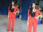 Amyra Dastur Fiery Red In Dipika Gupta