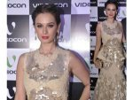 Evelyn Sharma Mermaid Gown By Rocky S