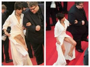 Sophie Marceau Underwear Show At 2015 Cannes