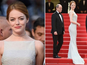 Cannes 2015 Emma Stone Duo Style