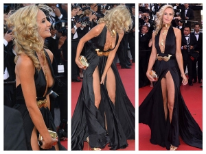 Cannes 2015 Lady Victoria Double Wardrobe Malfunction Red Carpet