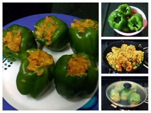Delicious Aloo Stuffed Capsicum Recipe